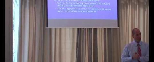 Professor Meir Pugatch speaking at WIPO/UNECE event